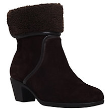 Buy Carvela Comfort Robin Cuff Ankle Boots, Brown Suede Online at johnlewis.com