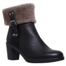 Buy Carevla Rebecca Block Heeled Ankle Boots, Black Leather Online at johnlewis.com