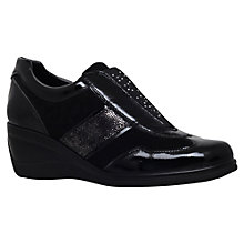 Buy Carvela Comfort Carlton Leather Trainer, Black Online at johnlewis.com