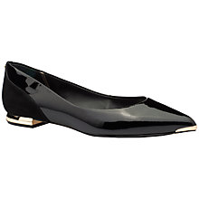 Buy Ted Baker Izlar Patent Pointed Block Heel Pumps, Black Online at johnlewis.com