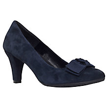Buy Carvela Anya Bow Detail Court Shoes, Navy Suede Online at johnlewis.com