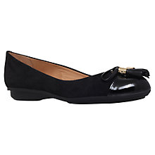 Buy Carvela Comfort Cleo Flat Suede Pumps, Black Online at johnlewis.com
