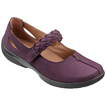 Buy Hotter Shake Extra Wide Woven Strap Leather Pumps, Plum Online at johnlewis.com