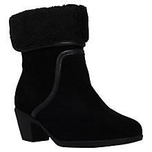 Buy Carvela Comfort Robin Cuff Ankle Boots, Black Suede Online at johnlewis.com