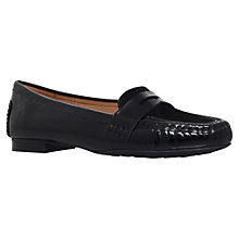 Buy Carvela Comfort Cali Suede Flat Loafers, Black Online at johnlewis.com