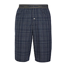 Buy Calvin Klein Simon Check Woven Cotton Lounge Shorts, Grey Online at johnlewis.com
