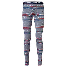 Buy Gant Ski Print Long Johns, Navy Online at johnlewis.com