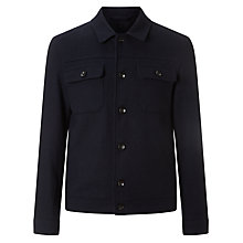 Buy Kin by John Lewis Wool Blend Trucker Jacket, Dark Navy Online at johnlewis.com