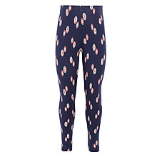 Buy John Lewis Girl Oval Print Leggings, Navy Online at johnlewis.com