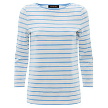 Buy Jaeger Breton Striped Top, Bluebell Online at johnlewis.com