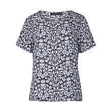 Buy Sugarhill Boutique Brittany Floral Print Top, Blue Online at johnlewis.com