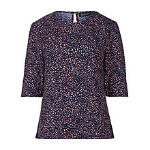 Buy Sugarhill Boutique Louise Leopard Print Top, Navy/Pink Online at johnlewis.com