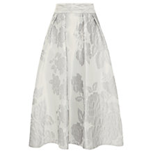 Buy Coast Eve Jacquard Skirt, Silver Online at johnlewis.com