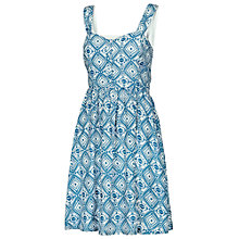 Buy Fat Face Hemsley Diamond Dress, Indigo Online at johnlewis.com