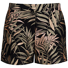 Buy Ted Baker Zakiash Palm Jacquard Suit Shorts, Black Online at johnlewis.com