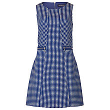 Buy Sugarhill Boutique Dahlia Spot Jacquard Dress, Blue / Cream Online at johnlewis.com