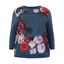 Buy Studio 8 Cecillia Woven Front Jumper, Teal Online at johnlewis.com