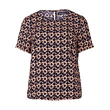 Buy Sugarhill Boutique Amy Spot Print Top, Navy/Peach Online at johnlewis.com