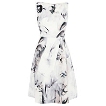 Buy Coast Tritin Print Dress, White/Black Online at johnlewis.com