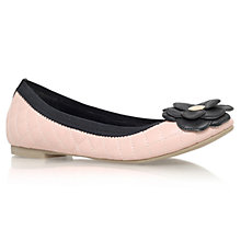 Buy Carvela Luna Leather Ballerina Pumps, Nude Online at johnlewis.com