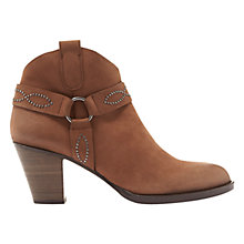 Buy Mint Velvet Rose Stud Ankle Boots, Camel Online at johnlewis.com