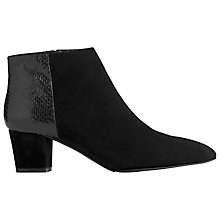 Buy L.K. Bennett Eloisa Suede Python Effect Ankle Boots, Black Online at johnlewis.com