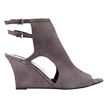 Buy Mint Velvet Sarah Cut Away Wedge Heeled Sandals, Grey Suede Online at johnlewis.com