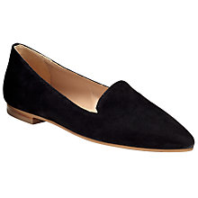 Buy Collection WEEKEND by John Lewis Grasse Slipper Shoes, Black Suede Online at johnlewis.com