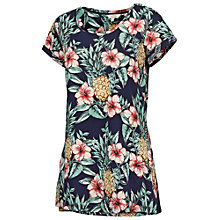 Buy Fat Face Devon Pineapple T-Shirt, Navy Online at johnlewis.com