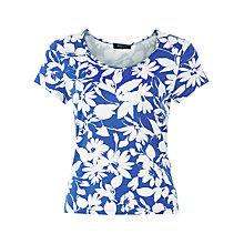 Buy Precis Petite Regatta Print Scoop Neck Top, Blue / White Online at johnlewis.com