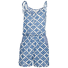 Buy Fat Face Temple Tile Playsuit, Navy Online at johnlewis.com