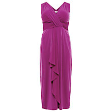 Buy Windsmoor Ruched Chiffon Maxi Dress, Magenta Online at johnlewis.com