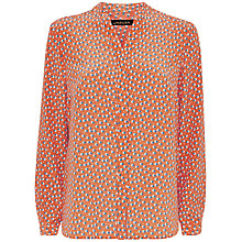 Buy Jaeger Silk Double Spot Print Blouse, Multi Red Online at johnlewis.com