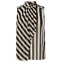 Buy Oasis Stripe Tunic Top, Black/White Online at johnlewis.com