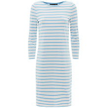 Buy Jaeger Breton Striped Dress, Bluebell Online at johnlewis.com