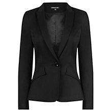 Buy Warehouse Stab Stitch Tailored Blazer, Black Online at johnlewis.com