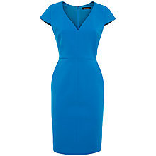 Buy Jaeger Compact Tailoring Dress, Mykonos Blue Online at johnlewis.com