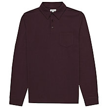 Buy Reiss Parry Long Sleeve Polo Shirt, Bordeaux Online at johnlewis.com