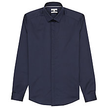 Buy Reiss Jupiter Concealed Placket Shirt, Navy Online at johnlewis.com