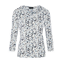 Buy Viyella Blossom Print Cowl Neck Jersey Top, Pale Blue Online at johnlewis.com