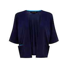 Buy Jaeger Gostwyck Slouch Wool Cardigan, Midnight Online at johnlewis.com
