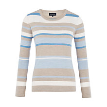 Buy Viyella Petite Stripe Merino Jumper, Blue Online at johnlewis.com