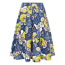 Buy Karen Millen Denim Floral Skirt, Blue Multi Online at johnlewis.com