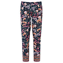Buy Warehouse Border Floral Trousers, Multi Online at johnlewis.com