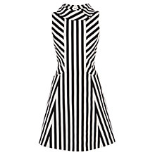 Buy Karen Millen Block Stripe Dress, Black and White Online at johnlewis.com