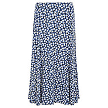 Buy Viyella Spot Print Jersey Skirt, Blue Online at johnlewis.com