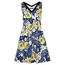 Buy Karen Millen Denim Floral Dress, Blue Multi Online at johnlewis.com