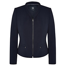 Buy Viyella Crepe Zip Detail Jacket, Navy Online at johnlewis.com