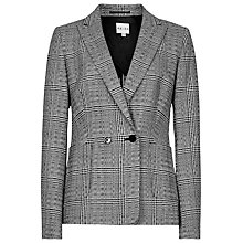 Buy Reiss Skrunken Double Breasted Blazer, Black/White Online at johnlewis.com