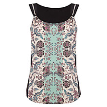 Buy Warehouse Folk Utility Floral Top, Multi Online at johnlewis.com